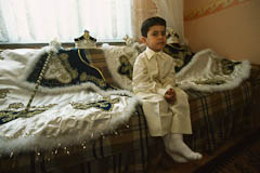Young boy waiting for the circumcision
